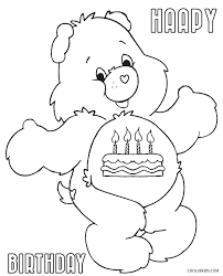Printable Panda Bear Coloring Pages Birthday Care Bears Teddy Sheets Free