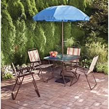 Patio Umbrellas At Walmart by Best 25 Patio Set With Umbrella Ideas On Pinterest Small Deck