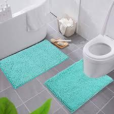 türkis wc vorleger und weitere badtextilien günstig