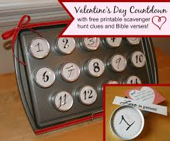 Halloween Scavenger Hunt Clues Indoor by A Bible Verse And Scavenger Hunt Countdown For Valentine U0027s Day