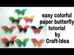 Colorful Paper Butterfly By Craft Idea