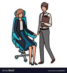 Woman Sitting In Office Chair And Man Standing Safety First Timba Highchair White High Chairs Strolleria Ikea Chair With Standing Laptop Station Fniture Little Girl Standing Image Photo Free Trial Bigstock Handsome Artist Eyeglasses Gallery Amazoncom Floorstanding High Bracket Bar Lift Modern Girl Naked On A Chair Stand In The Bathroom Tower Or Learning Made Splendid Office Desks Amusing Solar Cantilever Leander Free Worth Vitra Rookie