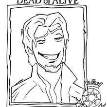 RAPUNZEL WITH HER LONG HAIR FLYNN RIDER Coloring Page