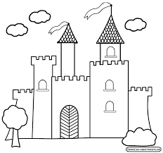 Castle Coloring Pages For Preschoolers