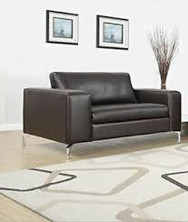 details zu sessel loungesessel polstersessel wohnzimmer kunstleder dunkelbraun