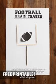 Halloween Brain Teasers by Football Brain Teaser Printable U2014 All For The Boys