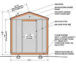 8 8 garden shed building plans blueprints for simple gable shed