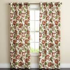 Jacobean Style Floral Curtains by Jameson Floral Canvas Grommet Panels Window Brylanehome