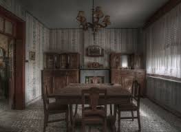 Photo Of Dining Room From Inside An Abandoned Farmhouse By Photographer Niki Feijen The Homes Rooms Are Still Furnished With Former Occupants