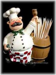 Fat French Italian Chef Kitchen Decor Toothpick Holder AT4ND040