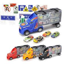 100 Big Truck Toys 33Pcs 28Pc Road Sign 4Pc Car 1Pc Diecast Model Car For Children Christmas Gifts Cars Vehicles