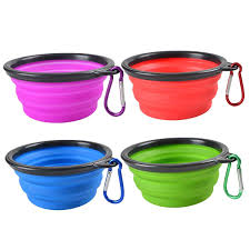 Pet Supplies Collapsible Dog Bowl Silicone Portable Foldable