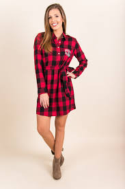 prepster plaid dress red black the mint julep boutique