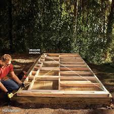 Cheap Shed Base Ideas by Diy Storage Shed Building Tips Family Handyman