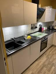 hochglanz weiß nolte küche ohne geräte außer spülmaschine