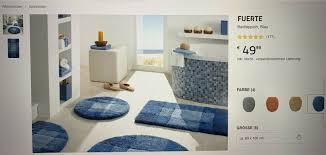 3 teppiche badteppiche fuerte serie kibek 2x groß 1x klein