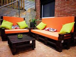 Modern Outdoor To Make Cozy Wooden Patio Furniture Sets With Warml Color Schemes Black Diy Oranged Cushioned Pallet