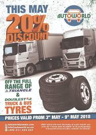 Truck And Bus Tyres Offer - On All Triangle And Doublestar Tyres ...