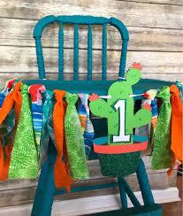 Cactus High Chair Banner, Cactus High Chair Garland, Fiesta First Birthday,  Cactus First Birthday, Taco Twosday, Boho High Chair Banner