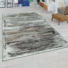 kurzflor teppich abstraktes muster beige grau