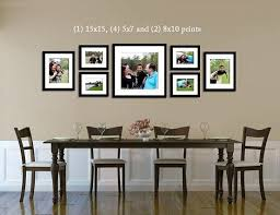 I Like The Arrangement Of Larger Pictures With Same Frames Above Dining Room Table