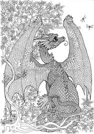 Colouring Pages 5 Dragon Themed Coloring Highly Detailed Page Pdf