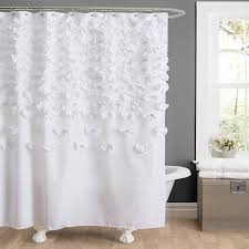 Small Bathroom Window Curtains Amazon by Amazon Com Lush Decor Lucia Shower Curtain 72 By 72 Inch White