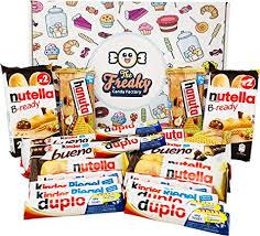 the factory ferrero schokoladen geschenk box inkl kinder schokolade duplo hanuta bueno nutella b ready snackbox kinderschokolade