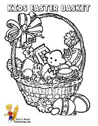 Handsome Easter Basket Coloring Pages Throughout To Print