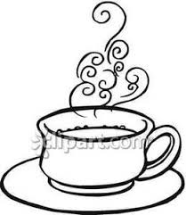 hot coffee clipart black and white 5