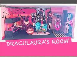 Monster High Bedroom Set by How To Make A Monster High Doll Room For Draculaura Youtube