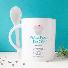 Personalised Fairy Cake Mug With Spoon