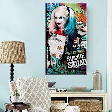 zz1029 hd gedruckt malerei selbstmord squad harley quinn leinwanddruck kunst wohnkultur wandkunst bilder für wohnzimmer wand decor