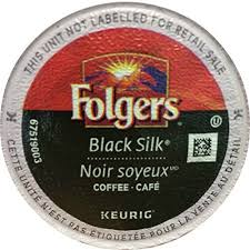 Folgers Coffee Black Silk KCups For Keurig Brewing Systems 120 Count Details Can