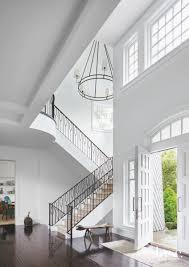 100 Contemporary Ceilings Crisp White Entryway With Black Staircase