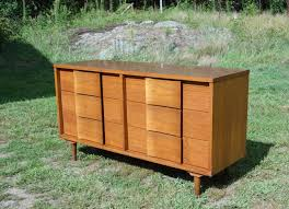 Johnson Carper White Dresser by Mid Century Dresser Thomasville Faux Bamboo Lacquer Mid Century