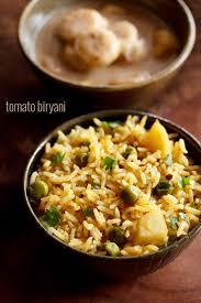 biryani indian cuisine tomato biryani recipe easy south indian style delicious tomato