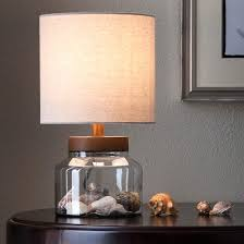 Fillable Glass Lamp Ideas by Fillable Glass Table Lamp With Wood Uplight Threshold Target And 6