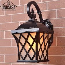 antique black aluminum outdoor wall lights garden pathway vintage