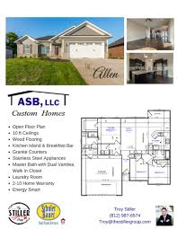 100 The Willow House Plan ASB Floor S Southern Indiana Kentucky Area Real Estate