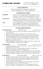 General Resume Objective Examples For Hospitality Industry Server Free Professional A Food