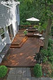 Patio And Deck Combo Ideas by 819 Best Pictures Of Decks Images On Pinterest Deck Design