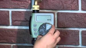 how to program an orbit single outlet hose faucet timer youtube
