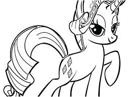My Little Pony Coloring Pages Rarity Via