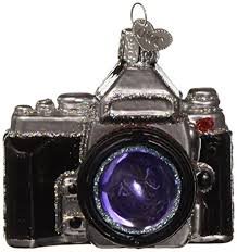 Old World Christmas Ornaments Camera Glass Blown For Tree