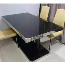 Tempered Glass Top Wood Dining Table, 4 Chairs, Furniture, Tables ... 4 Chair Kitchen Table Set Ding Room Cheap And Ikayaa Us Stock 5pcs Metal Dning Tables Sets Buy Amazoncom Colibrox5 Piece Glass And Chairs Caprice Walkers Fniture 5 Julia At Gardnerwhite Pc Setding Wood Brown Ikayaa Modern 5pcs Frame Padded Counter Height Ding Set Table Chairs Right On Time Design 4family Elegant Tall For Sensational