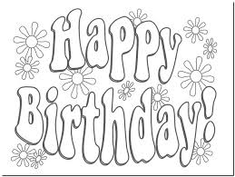 Happy Birthday Card Printable Coloring Pages Soft Decorations Design Grayscale Free Cards