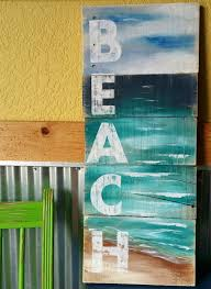 Beach Word Painting On Pallet Wood