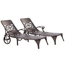 HOMESTYLES Biscayne Bronze Patio Chaise Lounge (Set Of 2) Fniture Incredible Wrought Iron Chaise Lounge With Simple The Herve Collection All Welded Cast Alinum Double Landgrave Classics Woodard Outdoor Patio Porch Settee Exterior Cozy Wooden And Metal Material For Lowes Provance Summer China Nassau 3pc Set With End Nice Home Briarwood 400070 Cevedra Sheldon Walnut Cane Rolling Chair C 1876
