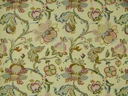 Jacobean Floral Curtain Fabric by Curtain Fabric Upholstery Fabric Jacobean Tapestry Cream